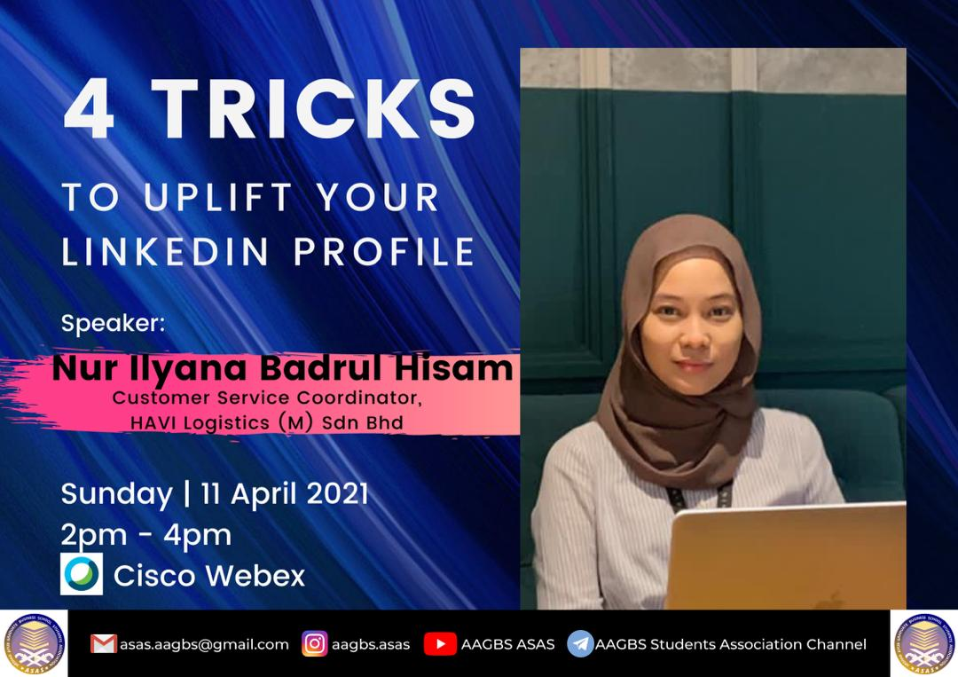 AAGBS Knowledge Sharing Session: Tricks to Uplift Your LinkedIn Profile